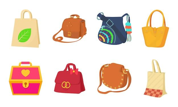 Conjunto de ícones de saco Vetor Premium