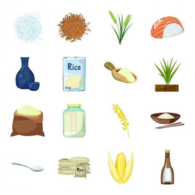 Conjunto de ícones de vetor de gelo dos desenhos animados Vetor Premium