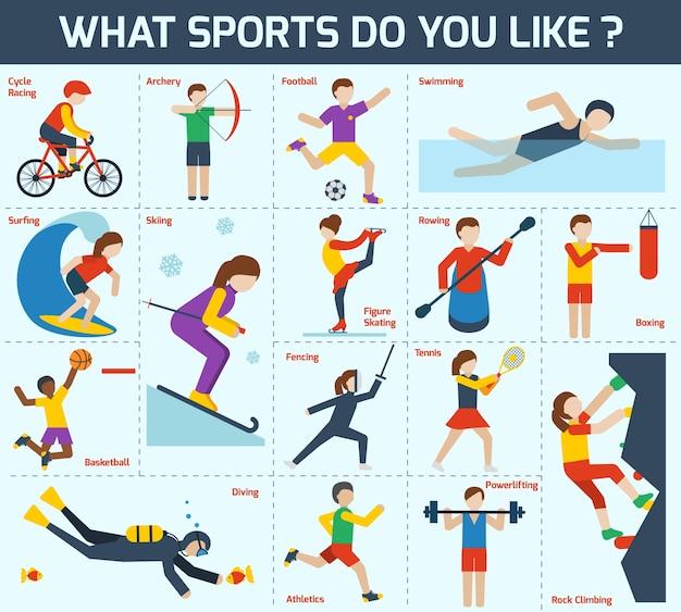 Conjunto de ícones desportivos Vetor grátis