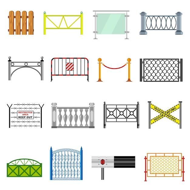 Conjunto de ícones diferentes de esgrima. Vetor Premium
