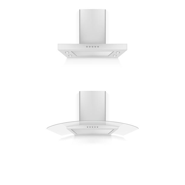 Conjunto de ícones do exaustor Vetor Premium