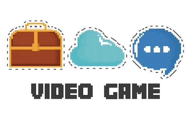 Conjunto de ícones do jogo de vídeo Vetor Premium