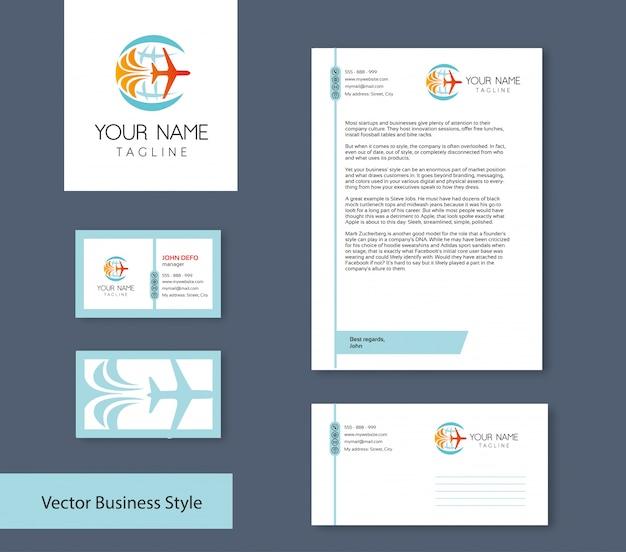 Conjunto de identidade de marca Vetor Premium