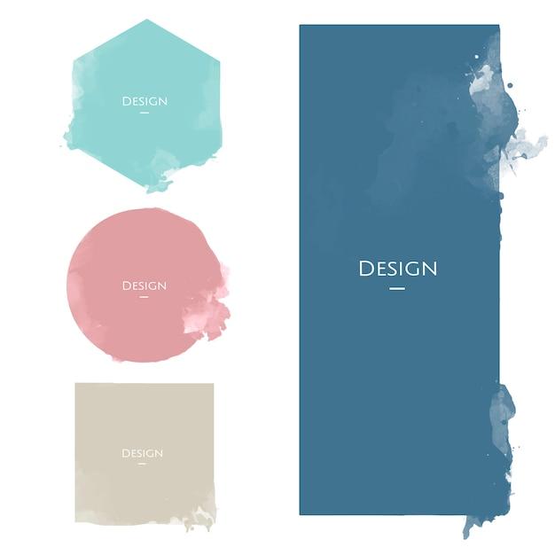 Conjunto de ilustração de design de modelo de distintivo de anúncio Vetor grátis