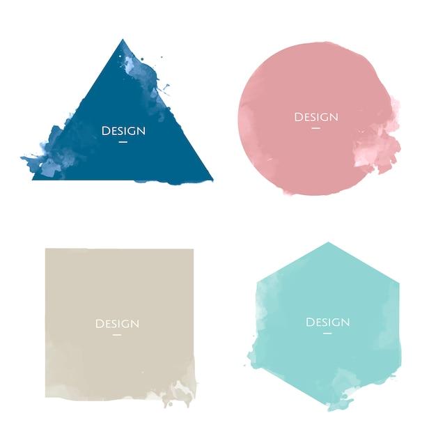 Conjunto de ilustração de design de modelos de distintivo de anúncio Vetor grátis