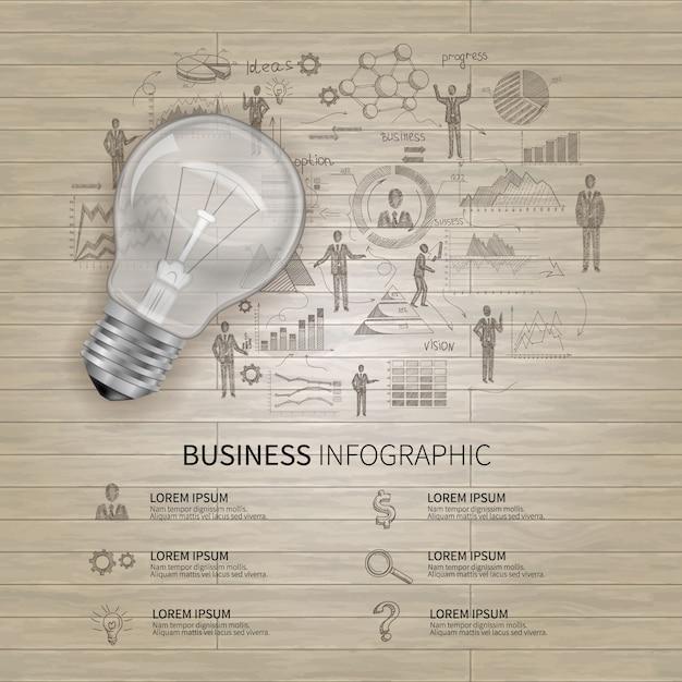 Conjunto de infográficos de negócios Vetor grátis