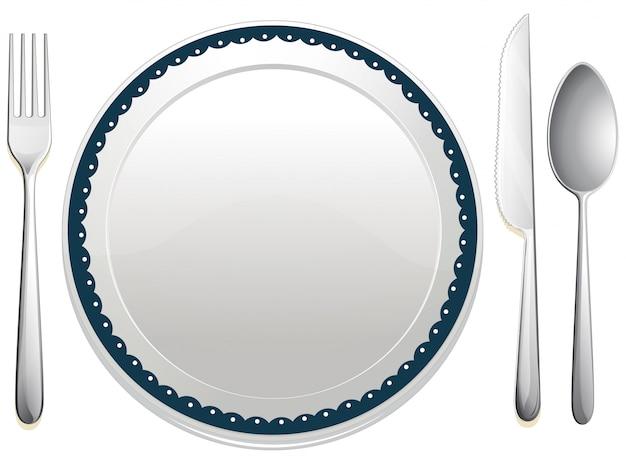 Conjunto de jantar Vetor grátis