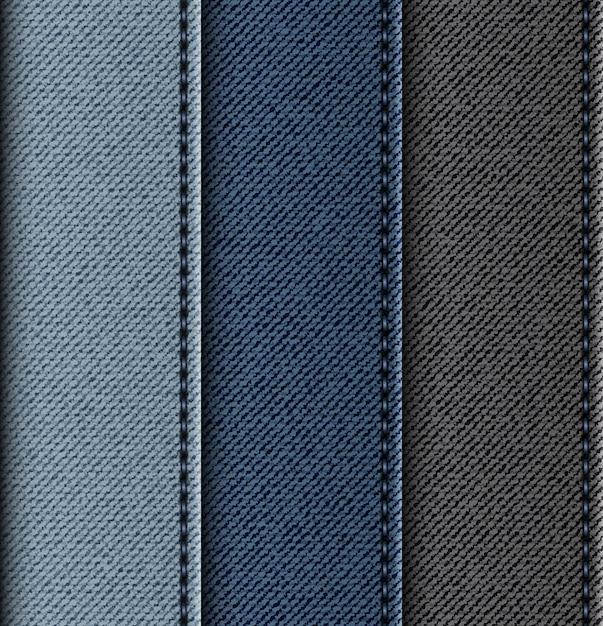 Conjunto de jeans listras verticais com pontos. Vetor Premium