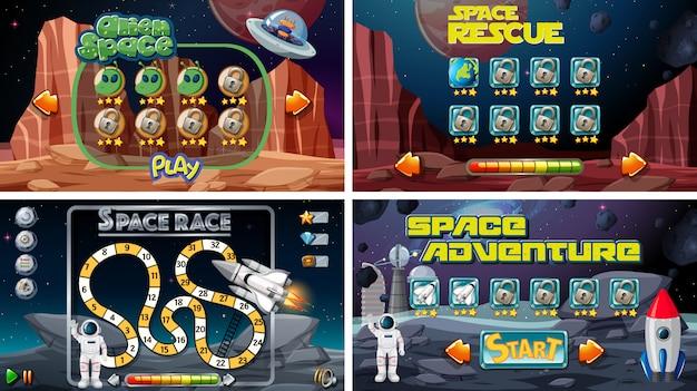 Conjunto de jogos espaciais Vetor grátis