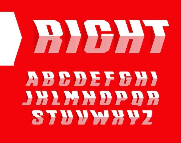 Conjunto de letras de estilo de seta. apontando o caminho do alfabeto. Vetor Premium