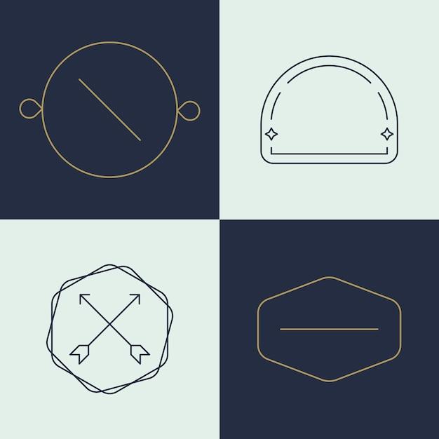 Conjunto de logotipo simples de negócios Vetor grátis