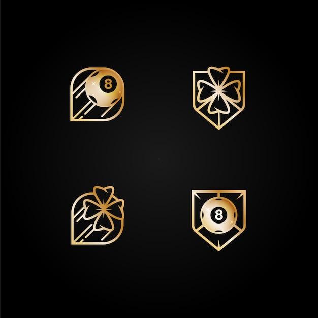 Conjunto de logotipos de cassino Vetor Premium