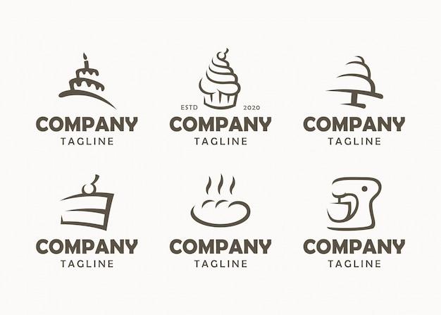 Conjunto de logotipos de padaria, etiquetas, emblemas e elementos de design Vetor Premium