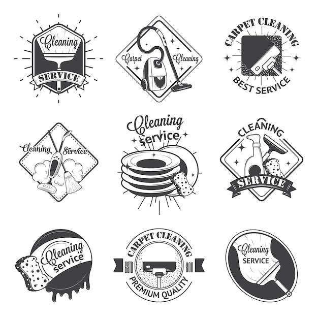 Conjunto de logotipos vintage Vetor Premium