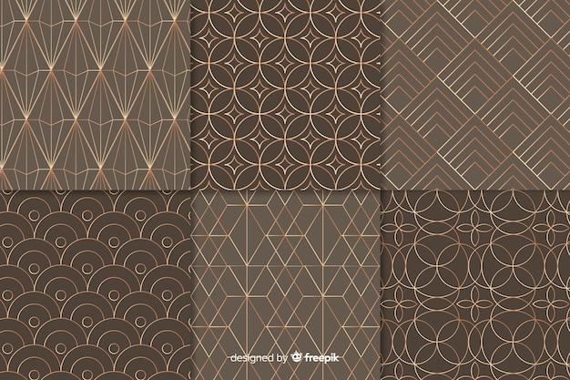 Conjunto de luxo padrão geométrico Vetor grátis