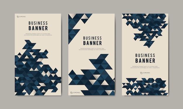 Conjunto de modelo de banner abstrato de negócios Vetor grátis