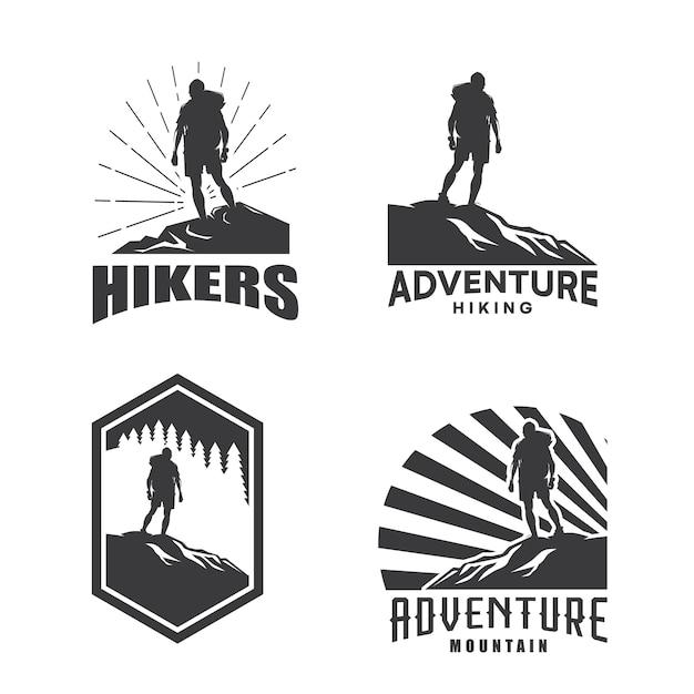 Conjunto De Modelo De Design De Logotipo De Aventura De