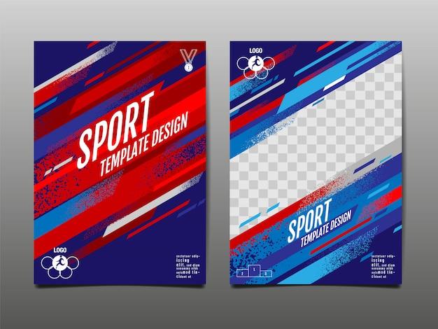 Conjunto de modelo de esporte Vetor Premium