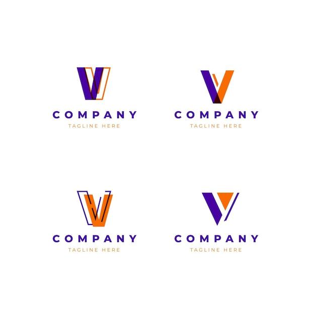 Conjunto de modelo de logotipo v Vetor grátis