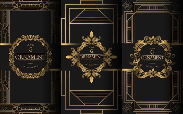 Conjunto de modelo de luxo Vetor Premium