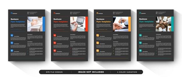 Conjunto de modelo de panfleto de negócios corporativos Vetor Premium