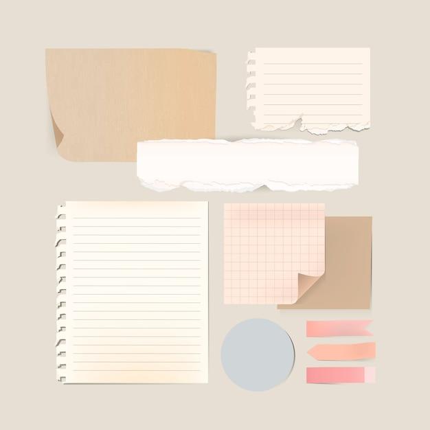 Conjunto de modelo de papelaria Vetor grátis