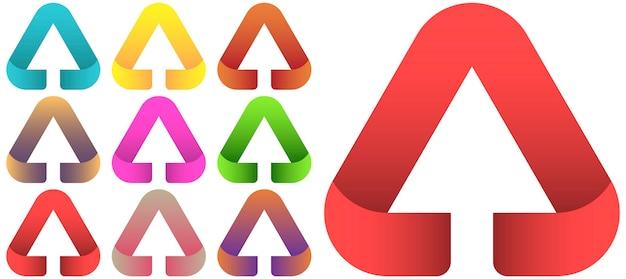 Conjunto de modelo de vetor de design de logotipo de seta. Vetor Premium