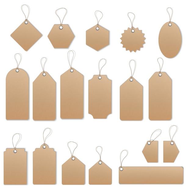 Conjunto de modelo de vetor de etiquetas e rótulos de venda Vetor Premium