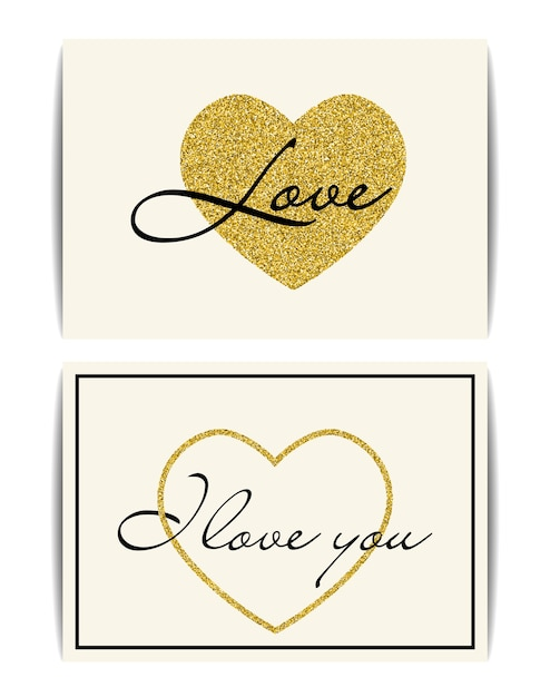 Conjunto de modelos de banner com símbolo de amor. Vetor Premium