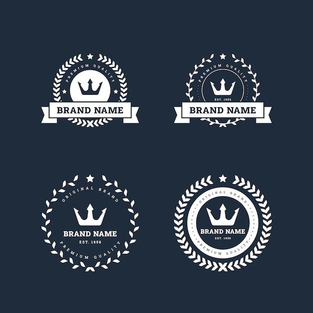Conjunto de modelos de design de logotipos retrô Vetor Premium