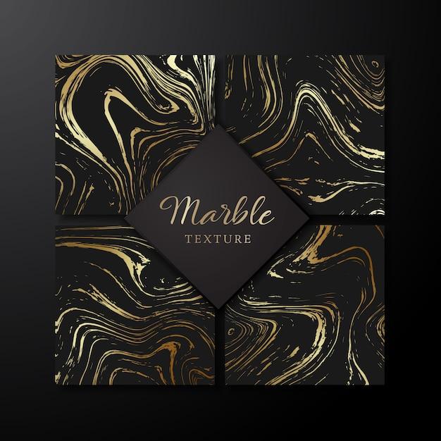 Conjunto de modelos de design de mármore. Vetor Premium