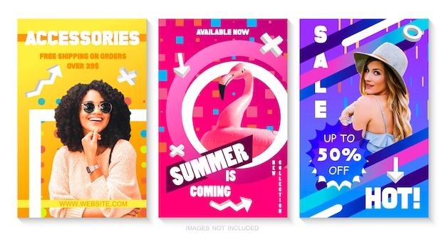 Conjunto de modelos de folheto de venda. Vetor Premium