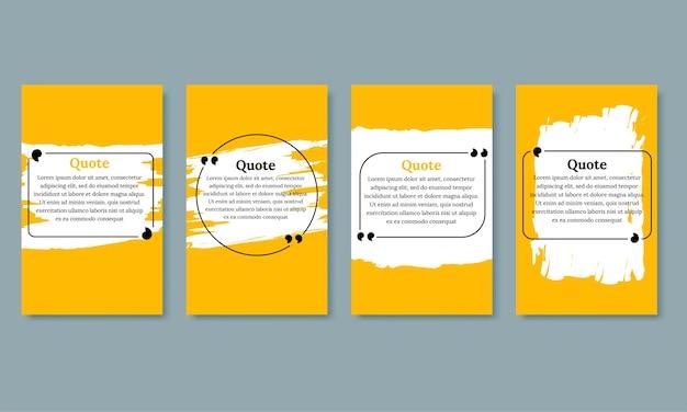 Conjunto de modelos em branco de quadros de citações Vetor grátis