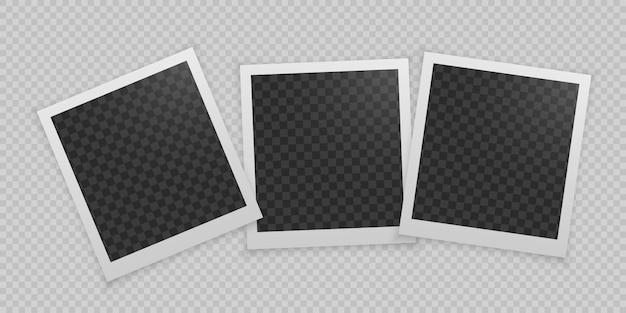 Conjunto de molduras para fotos realistas. Vetor Premium