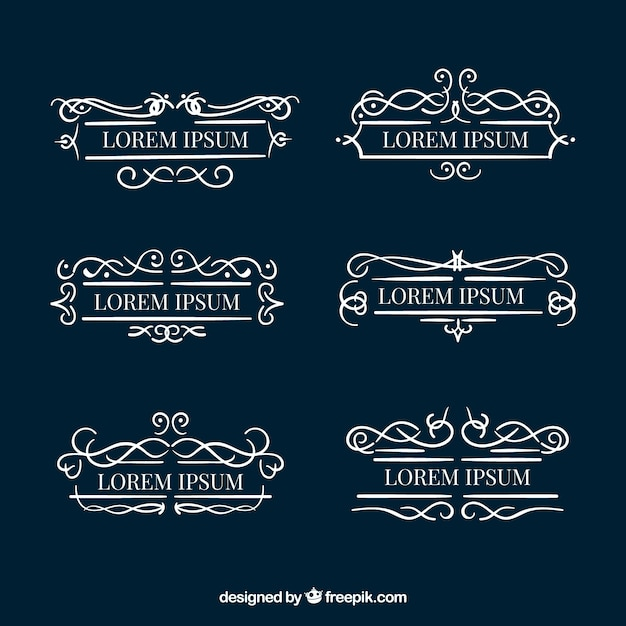 Conjunto de monogramas decorativos baixar vetores gr tis for Conjunto de espejos decorativos