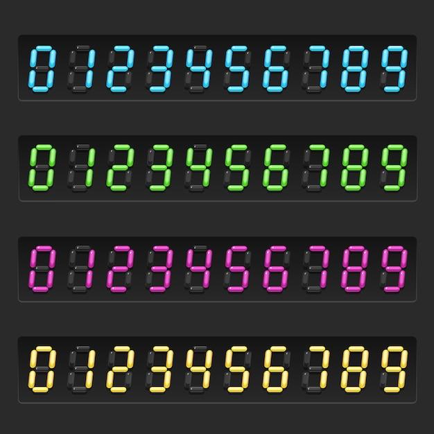 Conjunto de números eletrônicos Vetor Premium