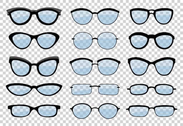 Conjunto de óculos Vetor Premium
