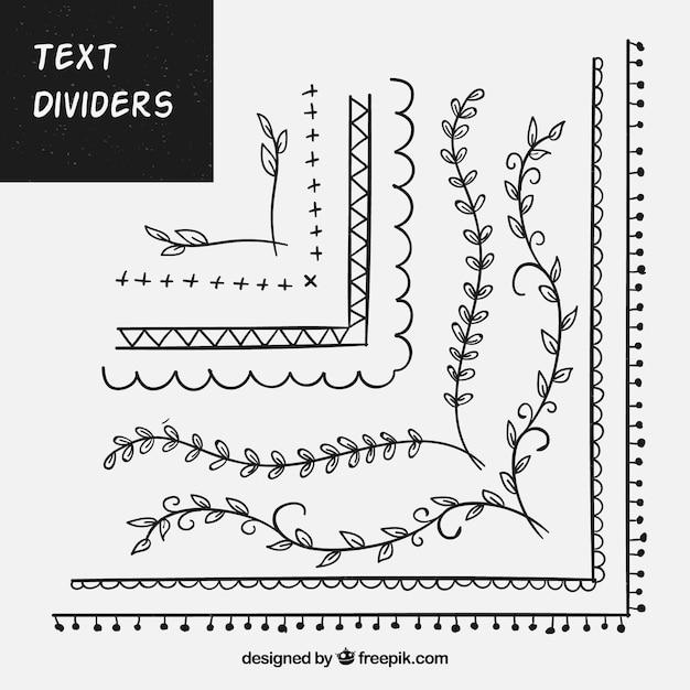 Conjunto de ornamentos para texto Vetor grátis