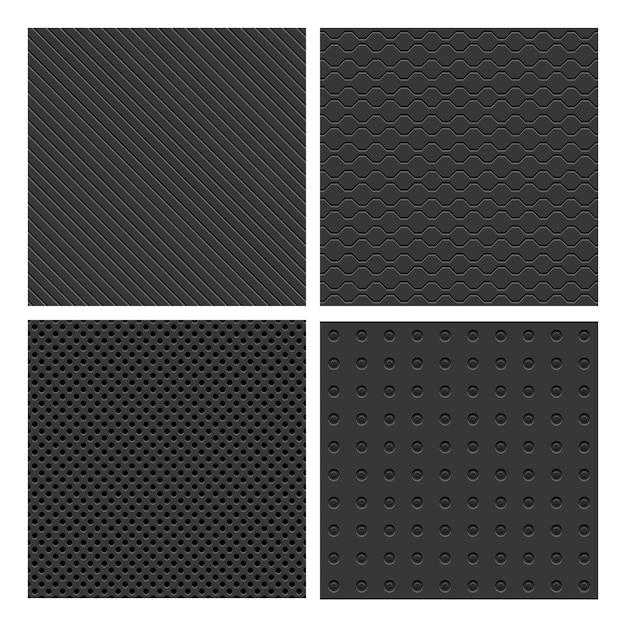 Conjunto de padrão de metal sem costura Vetor grátis