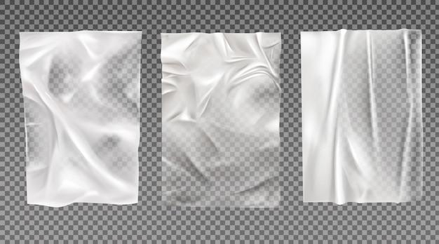 Conjunto de papel branco molhado Vetor grátis