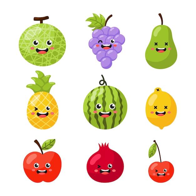 Frutas Dos Desenhos Animados Baixe Vetores Fotos E