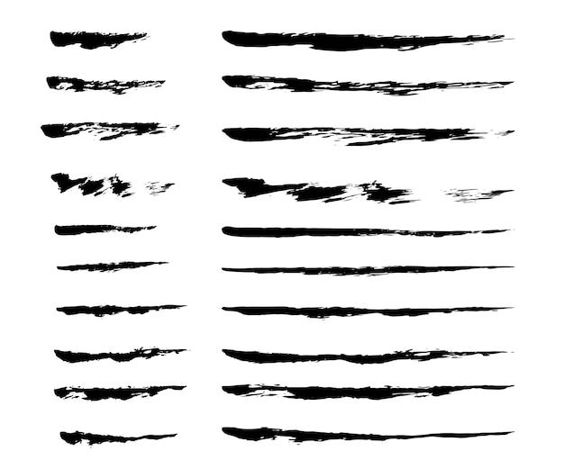 Conjunto de pinceladas de tinta Vetor grátis