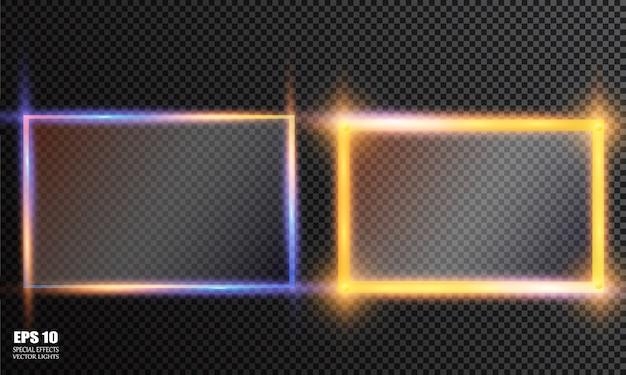 Conjunto de placas de vidro. banners de vidro de vetor em fundo transparente Vetor Premium