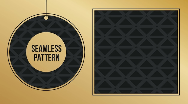 Conjunto de plano de fundo padrão geométrico monocromático. Vetor Premium