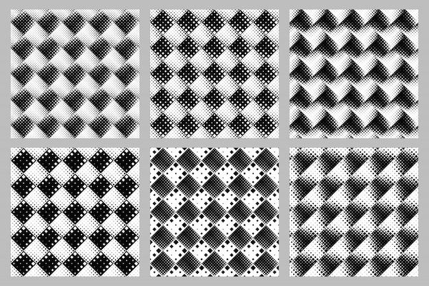 Conjunto de plano de fundo padrão quadrado diagonal sem emenda Vetor Premium