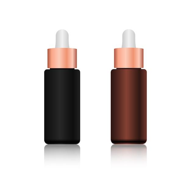 Conjunto de produtos cosméticos de garrafa realista. Vetor Premium