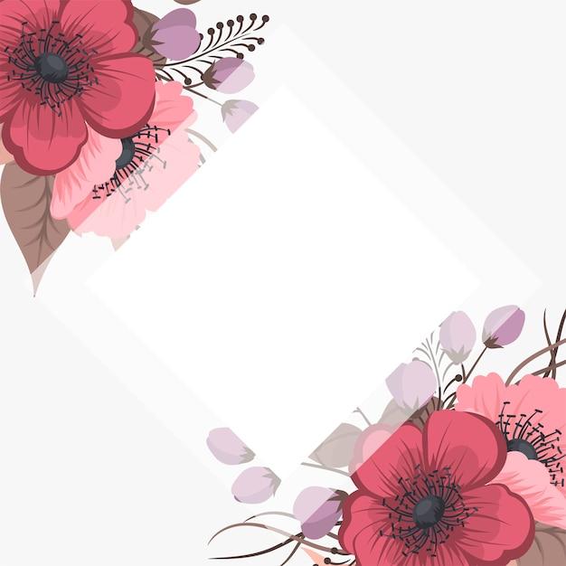 Conjunto de quadro floral com flores coloridas. Vetor grátis