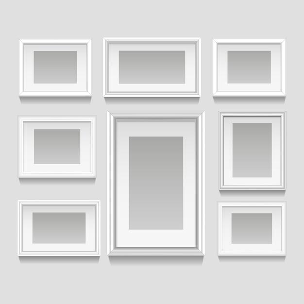 Conjunto de quadros brancos Vetor grátis