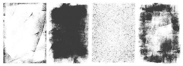 Conjunto de quadros retrô grunge abstrato Vetor grátis