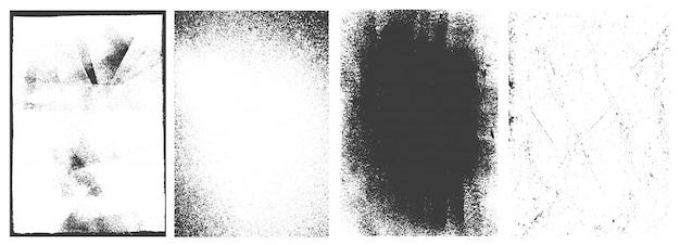 Conjunto de quadros verticais grunge abstrato vintage Vetor grátis